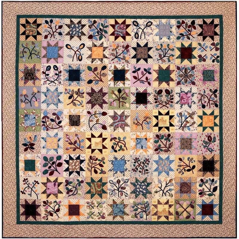 """Raffle Quilt 2015 """"Downtown Abbey goes Scrappy"""""""