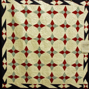"Sue Gregory created this ""Patriotic Snowflake"" as a Quilt of Valor from a new tool, the Bloc_Loc split rectangle."