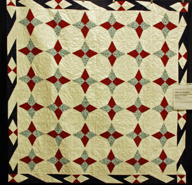 """Sue Gregory created this """"Patriotic Snowflake"""" as a Quilt of Valor from a new tool, the Bloc_Loc split rectangle."""