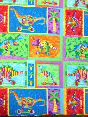 June 2015Baby Quilt Dinos