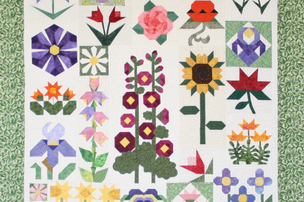 """Wallflowers"" Maureen Stevens, first place in Small Pieced by One"