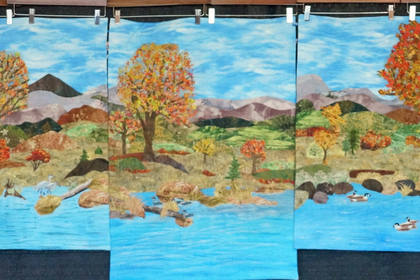 """Autumn On The Boise River"", submitted byNorma Devous, won first Place in the Group Quilts category and the Gloria Ostrander-Dykstra award for Group Quilts."