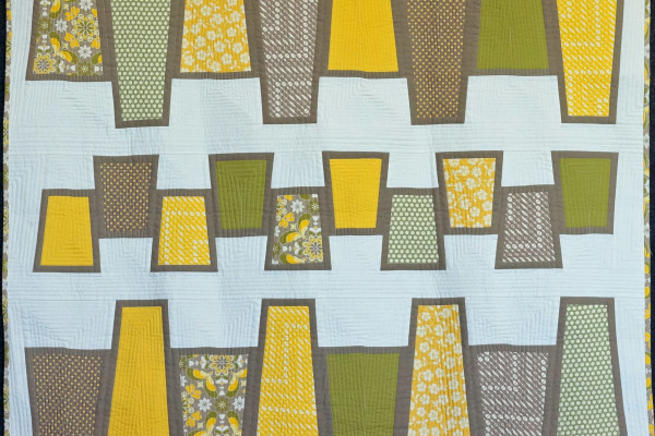 """Playful Polygons"" by Jolene Ficklin took First place for Modern Quilts"