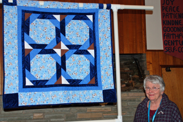 """Barbara Matson made and quilted her first quilt, """"Puppies"""", from the """"Big Book of Baby Quilts."""""""