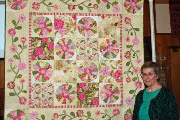 """Barabara Smith made a second quilt from the fabric purchased for the previous quilt, """"Dresden Flowers"""" a free Moda pattern."""