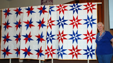 Both Quilts of Valor were created by Kenna Worthington & quilted by the Quilt Crossing.