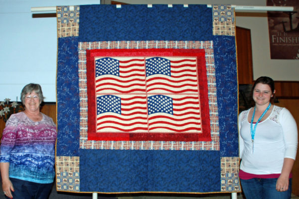 """Linda Murphy's """"America"""", made for her niece and quilted by Robyn Shafer."""