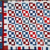 Quilt of Valor; donated top, quilted by Connie Emmen & finished by Cathy Venosdel.