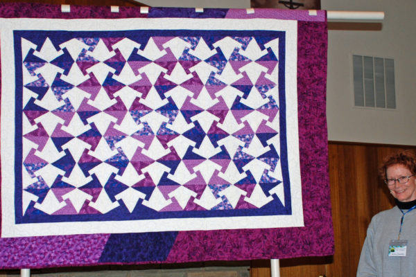 """Arabic Lattice"" created & quilted by Susan Herndon"