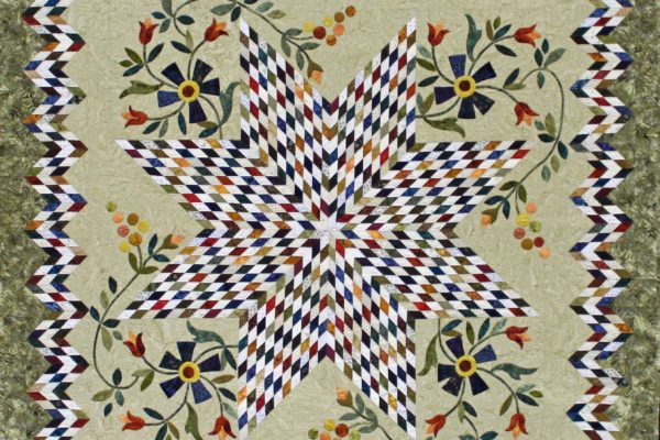 "Gloria Ostrandra-Dykstra Award and 1st Place - Group Quilts, ""A Star in Our Stash"""