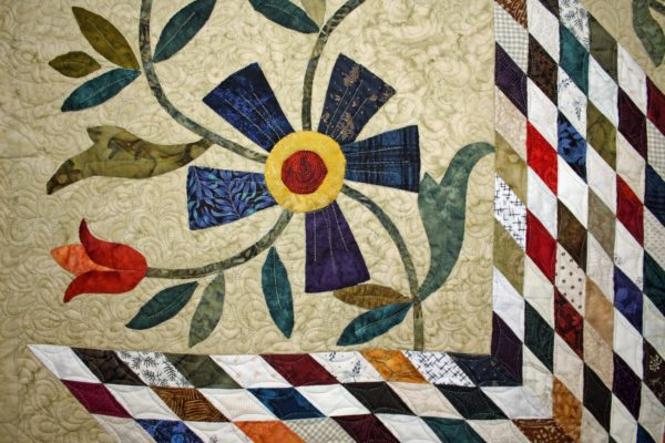 """Close-up of the Group Quilt, """"A Star in Our Stash"""""""