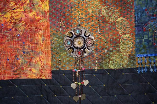"""Close up of Carol Herbst's """"Baubles, Bangles, and Bright Shining Beads"""""""