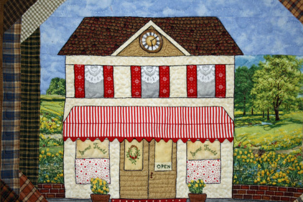 """Close-up of Donna Mumford's """"Country Village"""""""