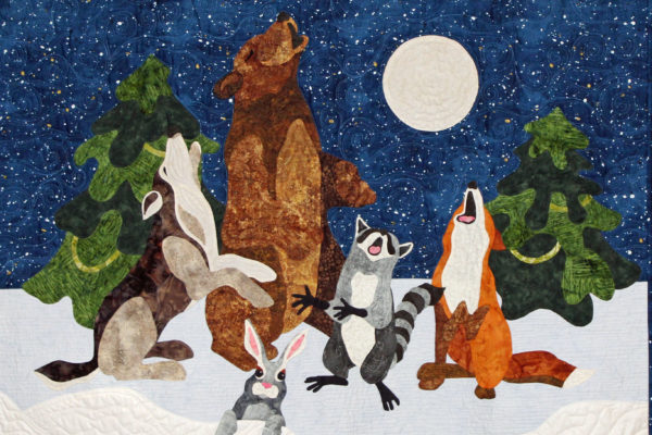 "1st Place - Small Applique by 1, Quilted by Another, ""Oh Howly Night"", by Gail Wroblewski"