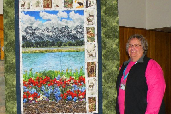 """""""Gary's Legacy"""" was created as an original & quilted by Sharon Koelling.  Created for her neighbor's husband for Christmas to showcase his love of nature and the mountains."""