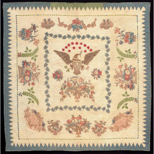 Daughters of the American Revolution Museum - Eagle Appliqué Quilt 1825