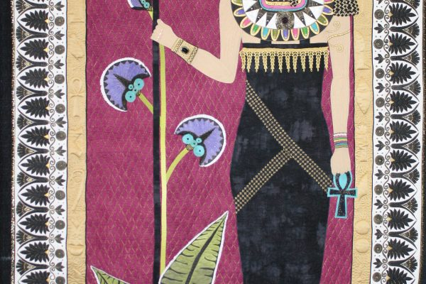 "1st Place - ""Walk Like an Egyptian"" made & quilted by Tami Graeber on a domestic, stationary machine.  Awarded BEST OF SHOW."