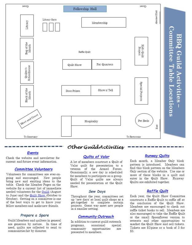 Floor Map & Activities